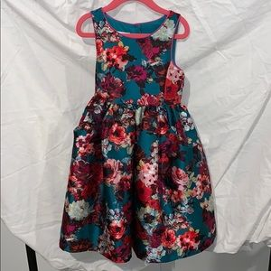 Girl's Floral Holiday Dress